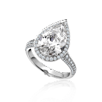 Vintage Pear shape Diamond Ring (1)