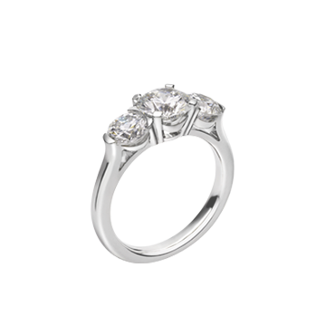 Platinum And Diamond three Stone Ring