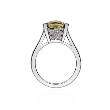 Angel Cocktail Ring With Mali Garnet