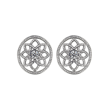 Arabesque Lattice Earclips