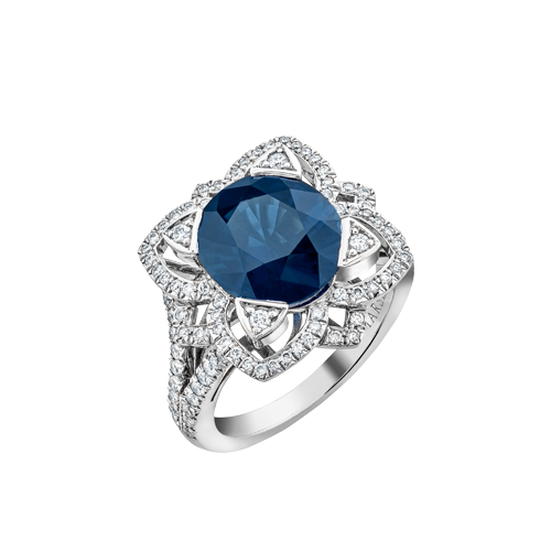Phoenix Sapphire and Diamond ring