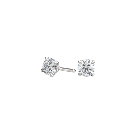 Round brilliant diamond studs 0.82ct