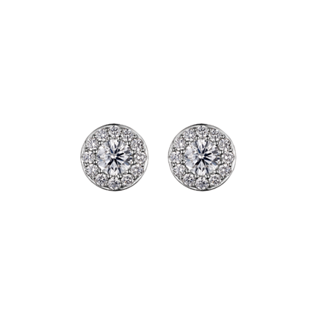 Diamond Surround Studs with 0.45ct Centres