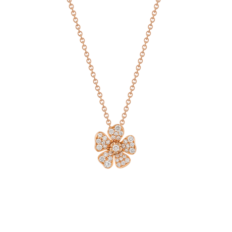 Forget Me Not Pendant in Red Gold