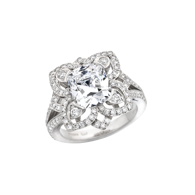 Forget Me Not cushion cut Diamond Ring