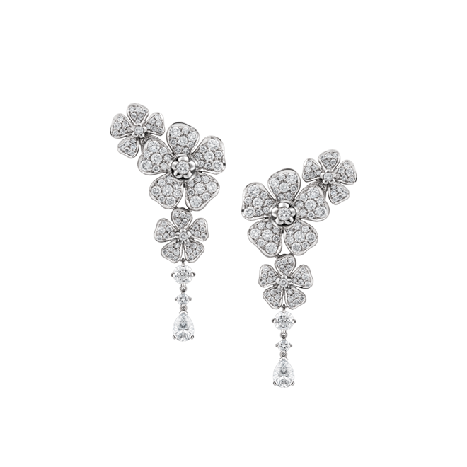 Forget Me Not diamond drop earrings