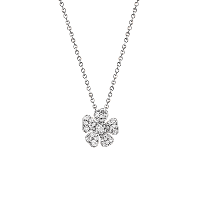Forget Me Not Pendant in White Gold