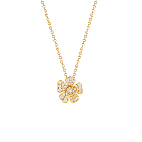 Forget Me Not Pendant in Yellow Gold