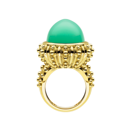 Beach Rocks Urchin Ring with Chrysoprase