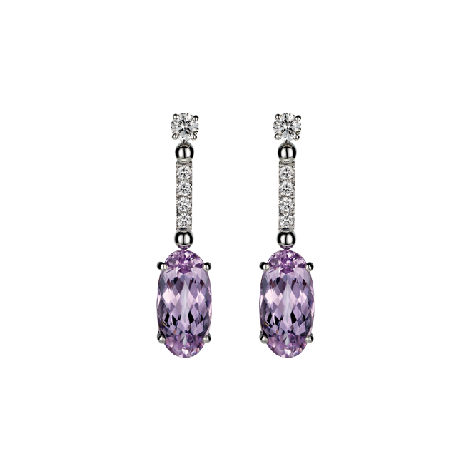 Wish List Earrings with Kunzite