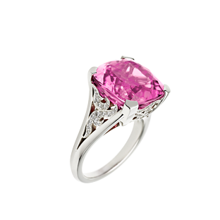 Angel Cocktail Ring With Pink Tourmaline