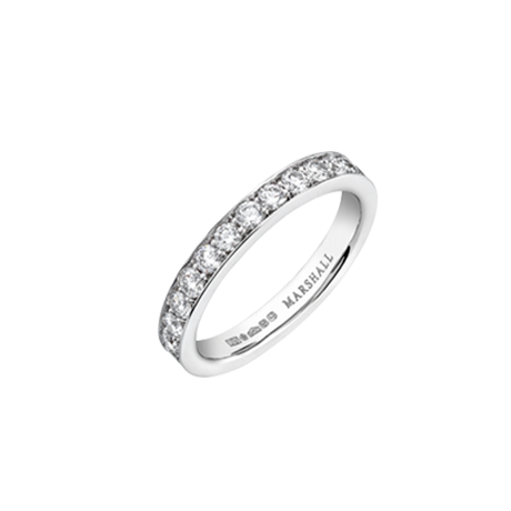 Pavé set Diamond and Platinum Eternity Ring