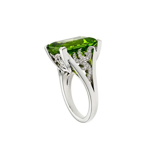 Angel Cocktail Ring With Peridot