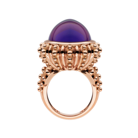 Beach Rocks Urchin Ring with Amethyst