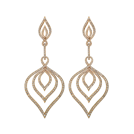 Kasbah Earrings in Red Gold