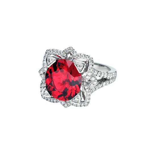 Phoenix Ring With Burmese Spinel