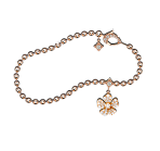 Forget Me Not Bracelet in Red Gold
