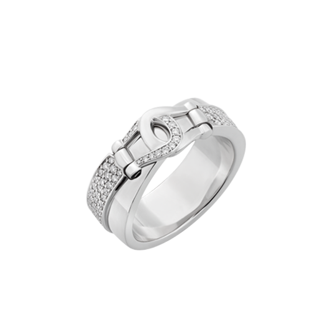 Unbridled Ring in white gold and pave set white diamonds