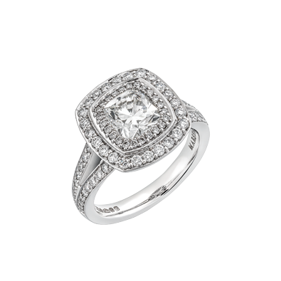 Vintage cushion cut Diamond Ring
