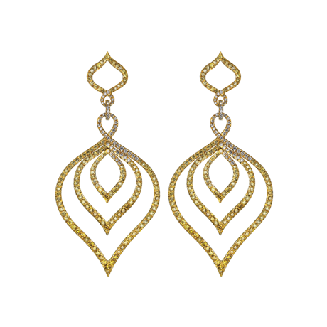 Kasbah Earrings in Yellow Gold