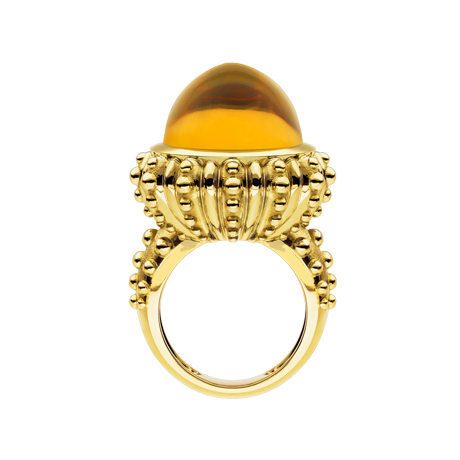 Beach Rocks Urchin Ring with Citrine