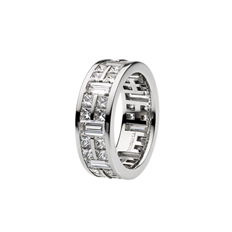 Baguette and Princess Cut Diamond Gents Eternity Ring