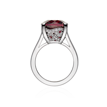 Angel Cocktail Ring With Pink Broilette Top Tourmaline