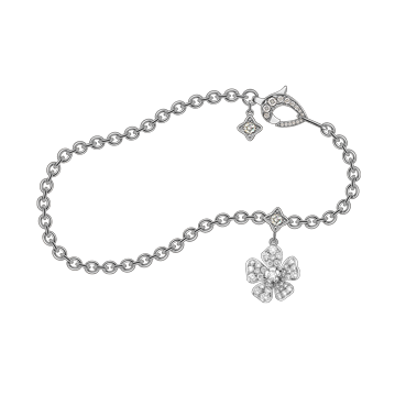 Forget Me Not Bracelet in White Gold
