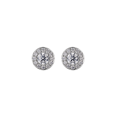 Diamond Surround Studs with 0.30ct Centres