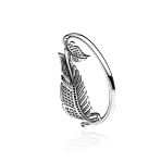 Feather Bangle in White Gold