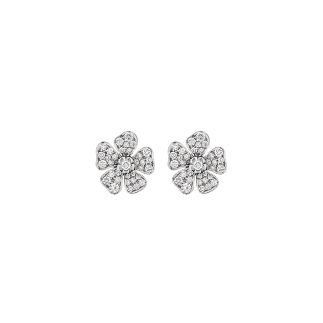 Forget Me Not Studs in White Gold