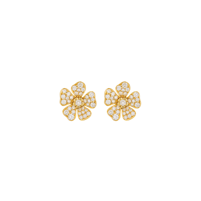 Forget Me Not Studs in Yellow Gold