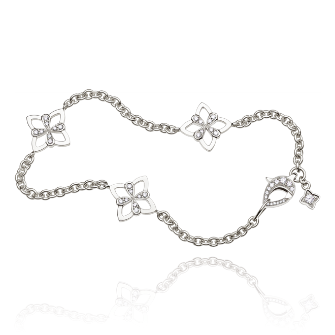 Legacy Bracelet in White Gold - Large