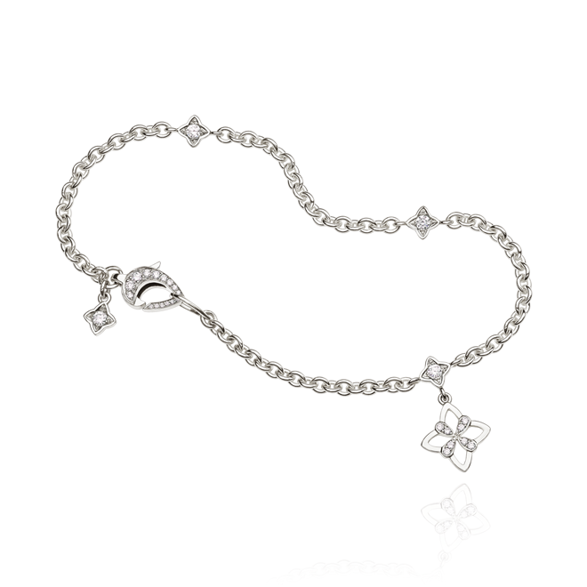 Legacy Charm Bracelet with hanging motif in White Gold