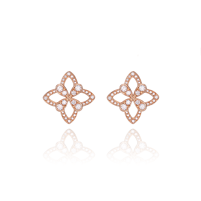 Legacy Stud Earrings in Red Gold