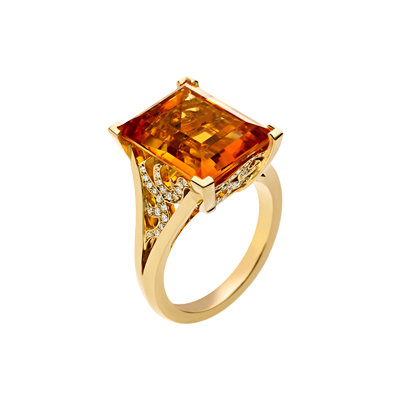Angel Cocktail Ring With Citrine