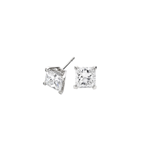Rock Princess-cut Diamond Studs