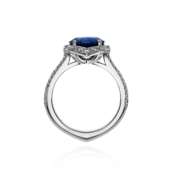 Sapphire and Diamond Tulip Ring