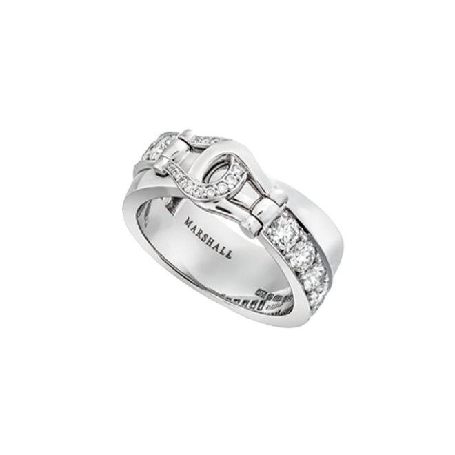 Unbridled ring in white gold with white diamonds