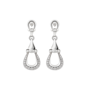 Unbridled white gold and diamond earrings