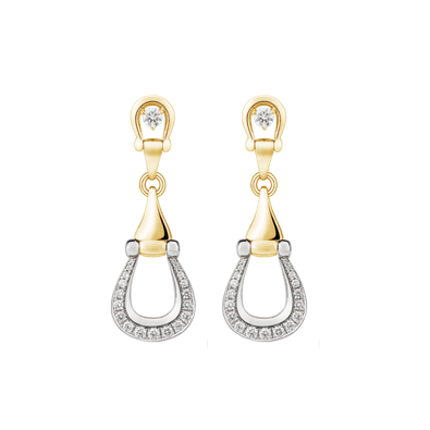 Unbridled yellow gold and diamond earrings