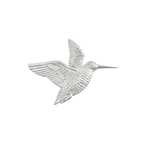 Silver Woodcock Pin