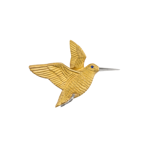 Woodcock Pin in Gold