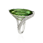 Wow Ring With Green Tourmaline